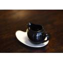 Milk/cream jug Sphere Nero + plate